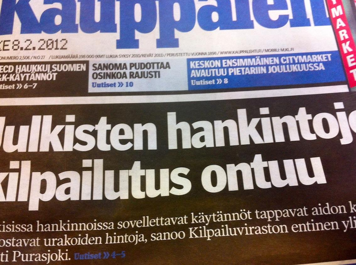Kauppalehti skrev om offentlig upphandling för ett år sedan. Problemen kvarstår.
