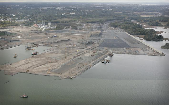Nordsjöhamnen byggdes för avlasta Helsingfors centrum och svara på en ökad efterfrågan.