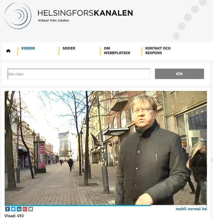 Biträdande stadsdirektör Pekka Sauri berättar i videobloggen om Stora Robertsgatans renovering.
